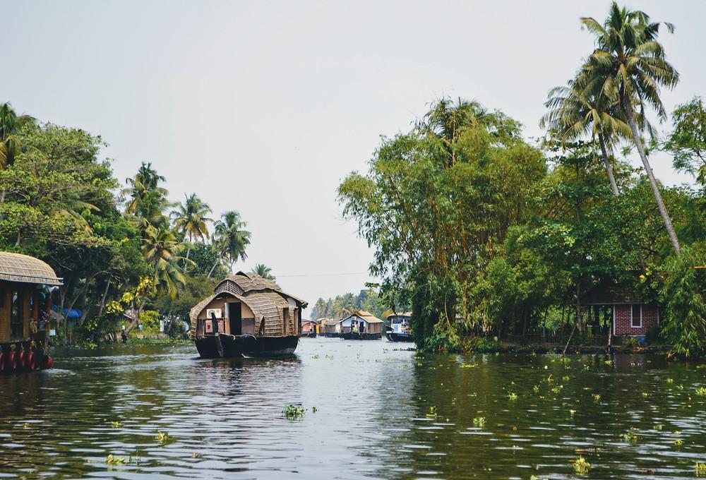 Backwater views of Kerala