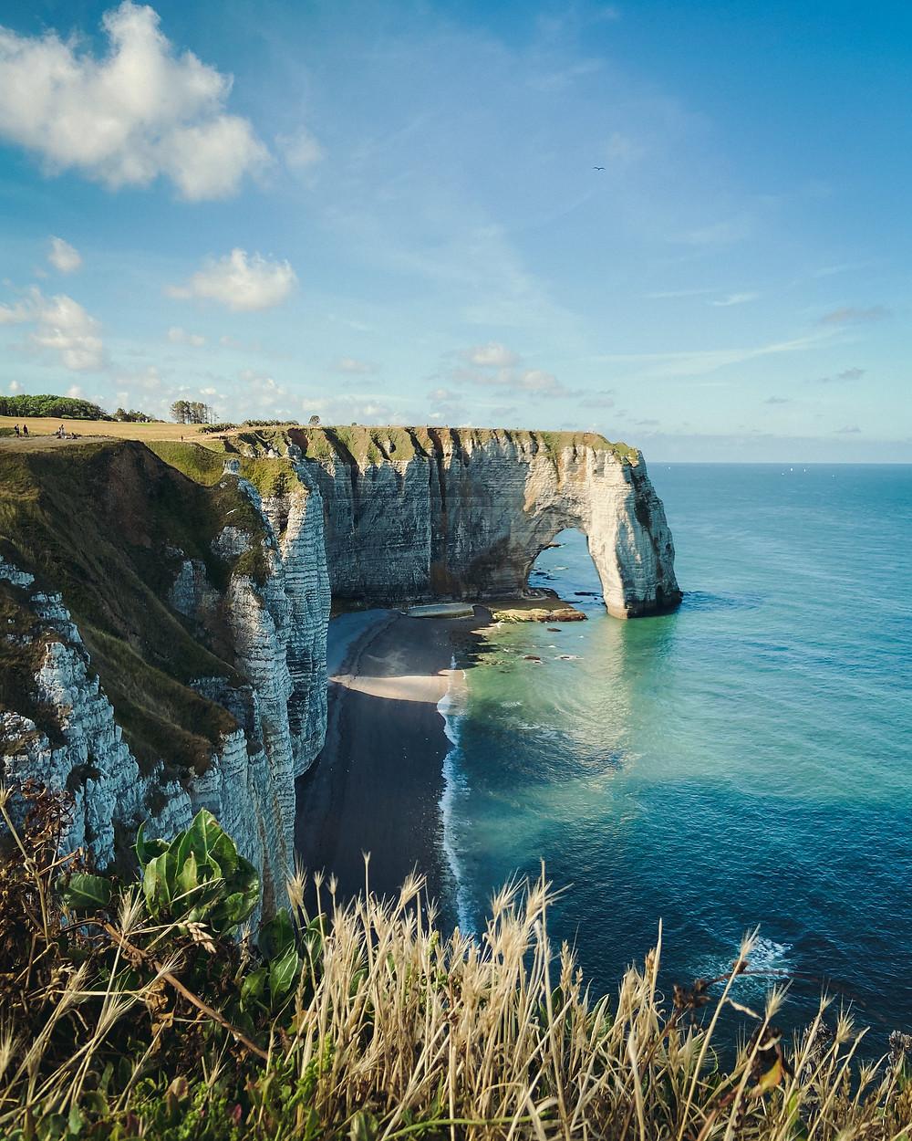 cliffs of Etretat in Normandy