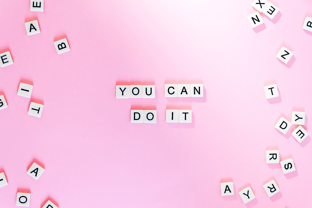 """Scrabble tiles spelling """"You Can Do It""""—You can get control of your bladder!"""