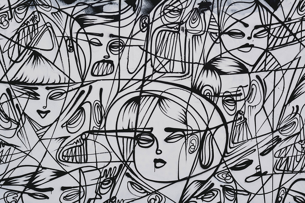 This is a drawing of people, which becomes an expression. It is a form of Art Therapy.