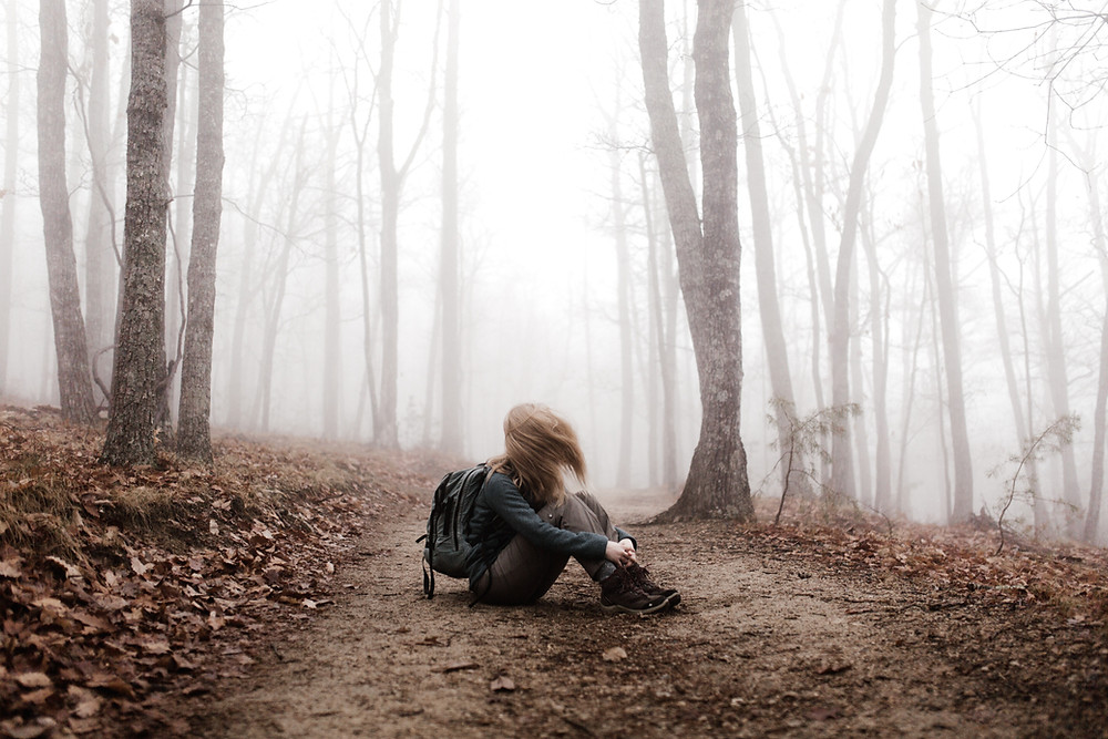 Girl lost in wood