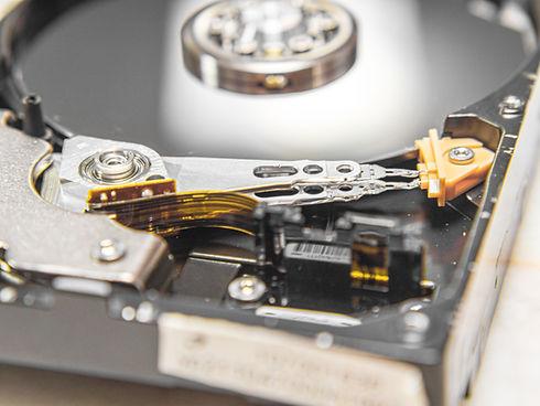 Close up of hard drive