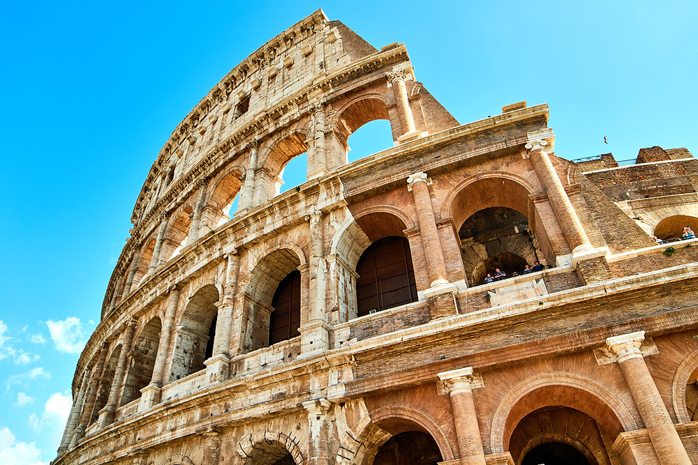 tiers of the Colosseum