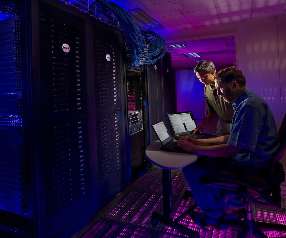 FBI Agents analyze seized servers