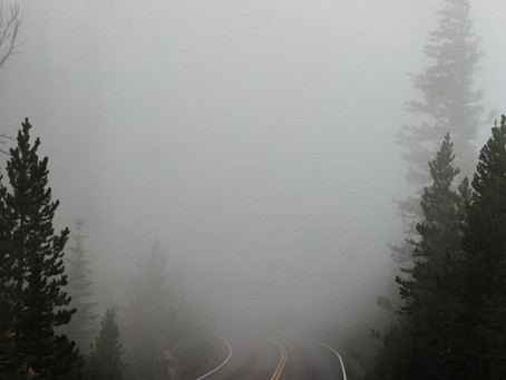 Saturday Writing Prompt -28th August - Fog Shrouded Road