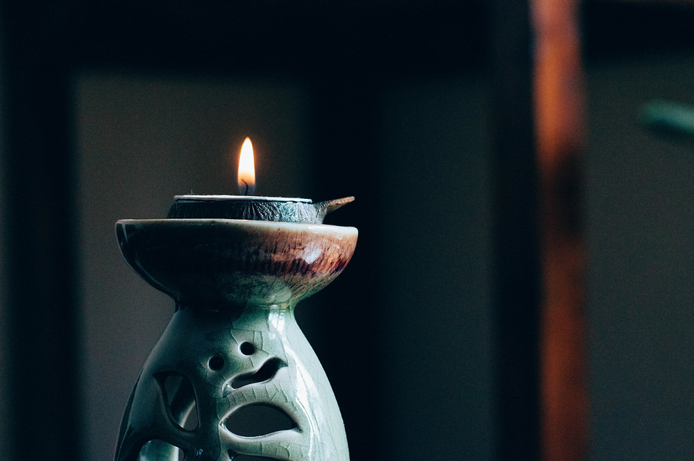 calming candle for relaxation and reflection