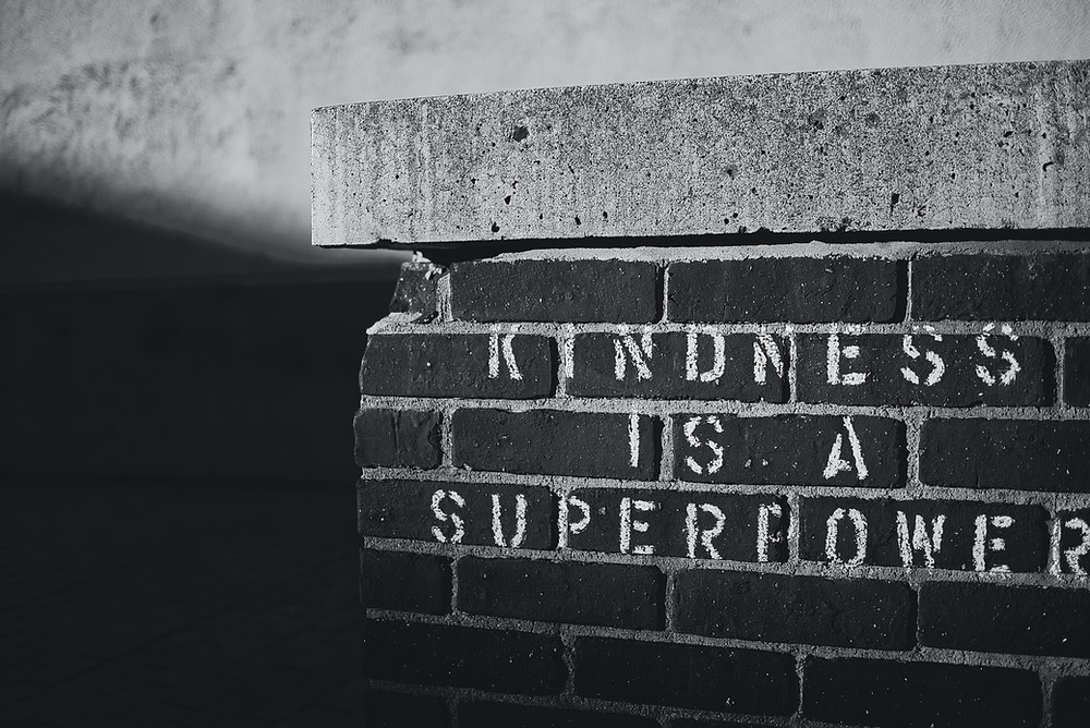 Kindness is a superpower on bricks