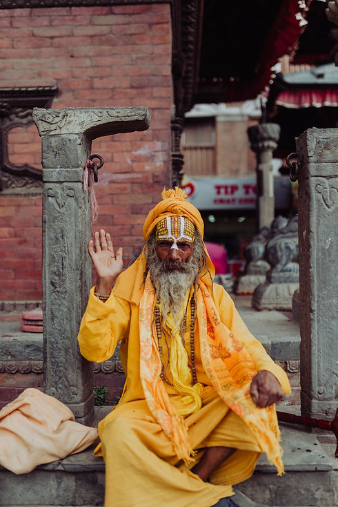 Colorfully dressed Nepalese Man (Image by Persnickety Prints)
