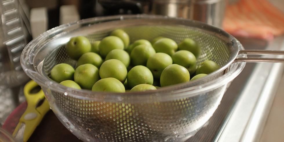 手作り梅の酵素と野草茶づくり
