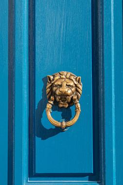 Blue door in Mayfair