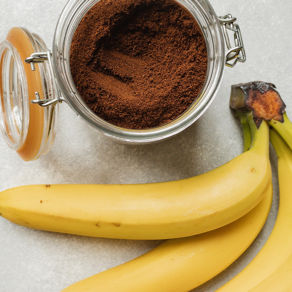 Banana smoothie with peanut butter, cocoa, and yogurt is protein-rich