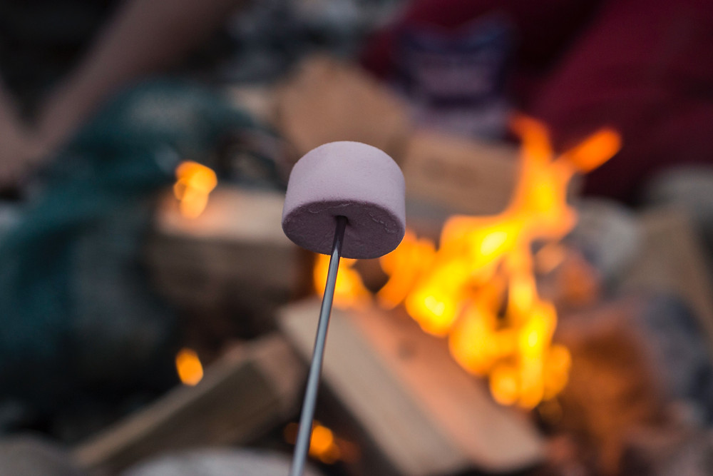 roasting s'mores is the best outdoor fall activity