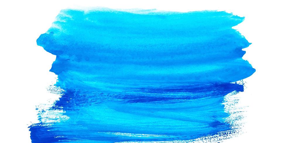 水彩絵の具で自分の名前を彩ろう(3-6歳向け)【Leland】