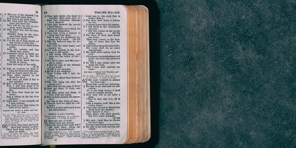 6:30pm Community-Wide Virtual Bible Study