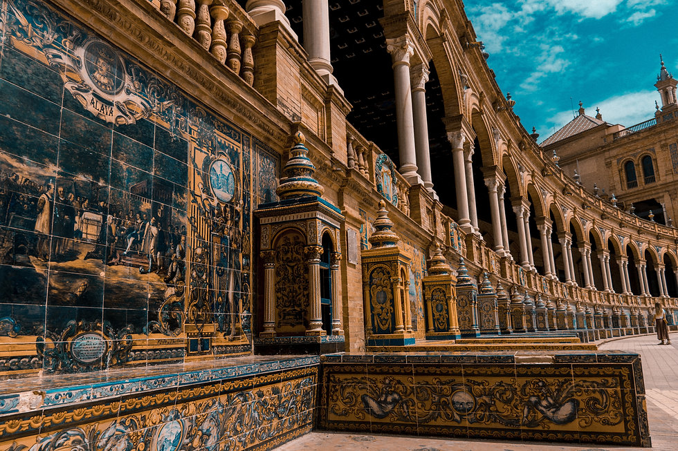 Sevilla - Plaza de España. One of the main landmarks of the city you must visit
