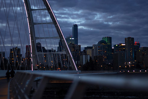 View of Edmonton at Dusk