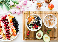 healthy food repas sain fruit bowl avocat petit-déjeuner
