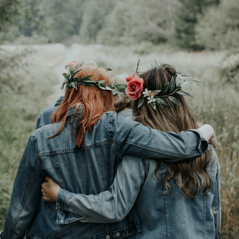 Vestes en jean bohème hippie