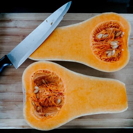 Roasted Butternut Squash & Quinoa with Pomegranate