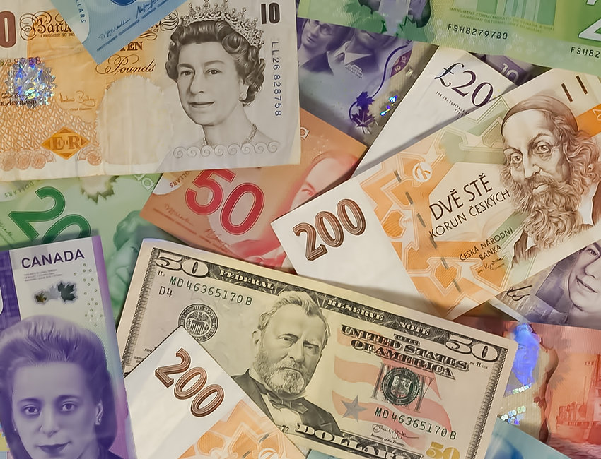 Currencies from different different countries