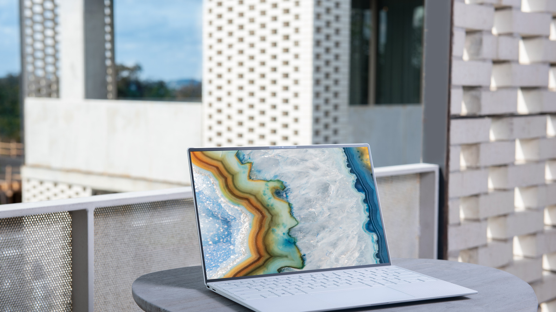 Dell XPS with graphics work open