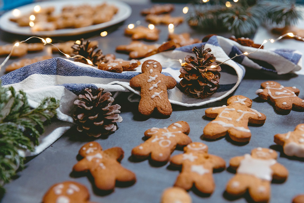 christmas eve stocking gift excitement with smell of gingerbread