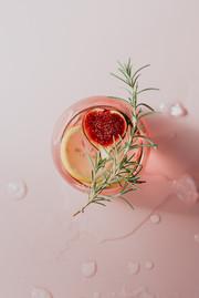Garnished Pink Gin