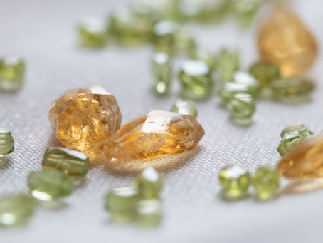 Peridot crystals and karma