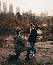 Hochzeitsantrag in New York im Park