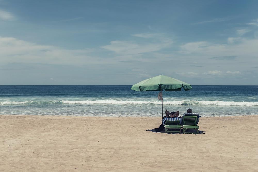 A Calm sea at Kuta Beach in Bali
