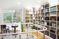 custom cabinets in calgary with books