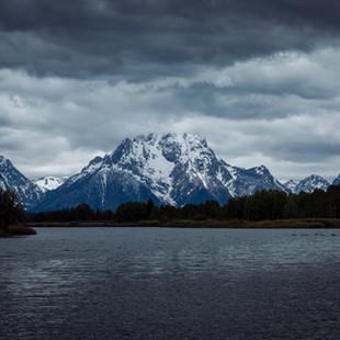 Snowy Mountain at Lake