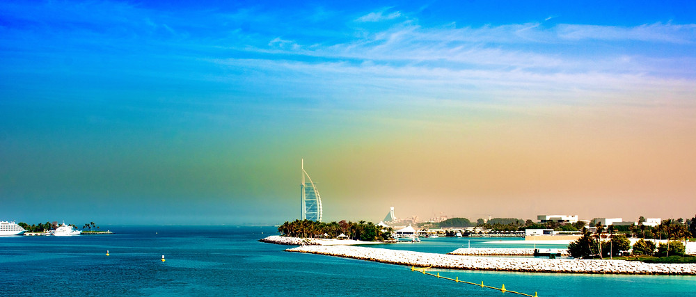 An amazing picture of Dubai's islands