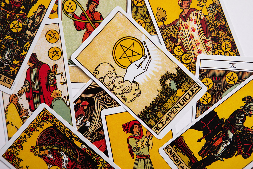 Ace of Pentacles, representing good fortune in money and health