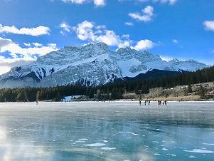 Austrian lake in winter