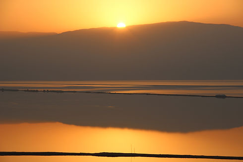 Sunset at Ein Bokek in Israel  (Giving Getaway)