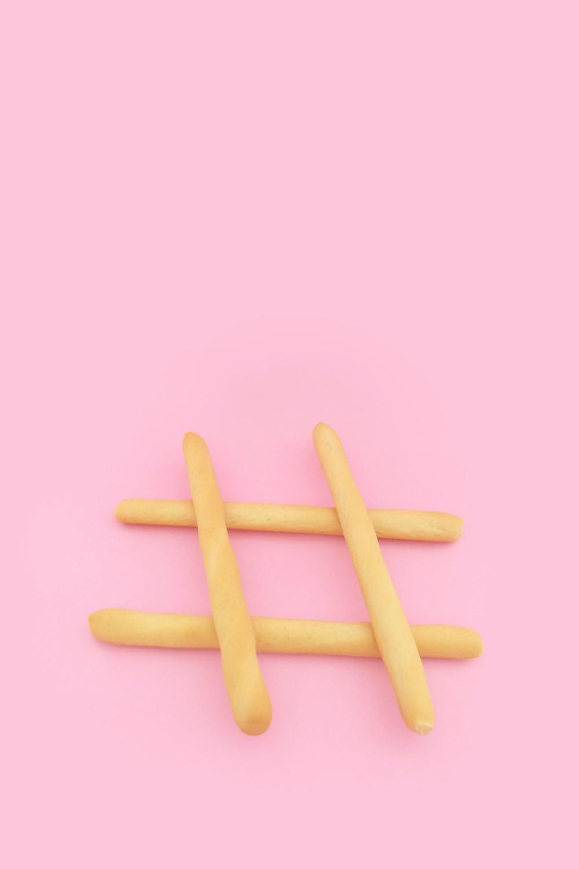 Hashtag aus Brot