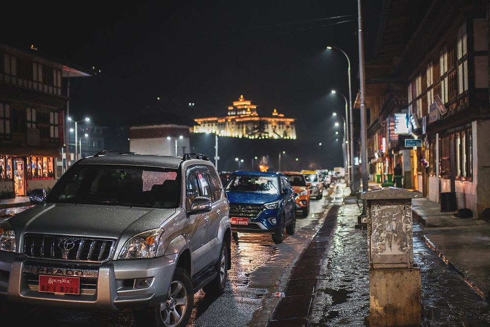 Carbon emission to increase in Bhutan over time, cars being a big part.