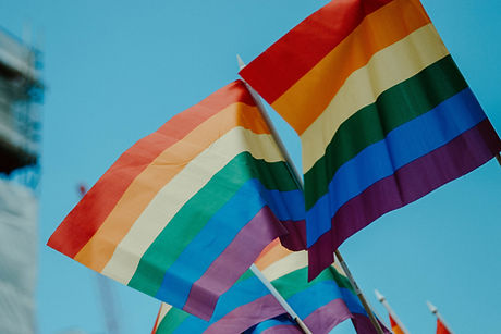 image of 2 pride flags