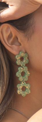 long beautiful flower shapped items on earrings