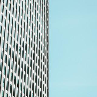 building & blue