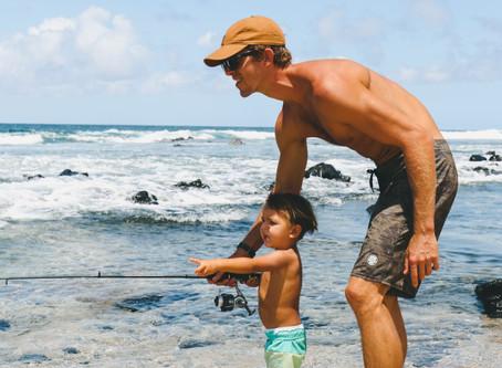 Getting the kids Fishing.
