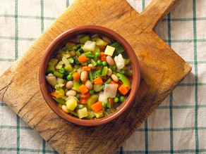 Vegetable Soup with Red Lentils and Chickpeas