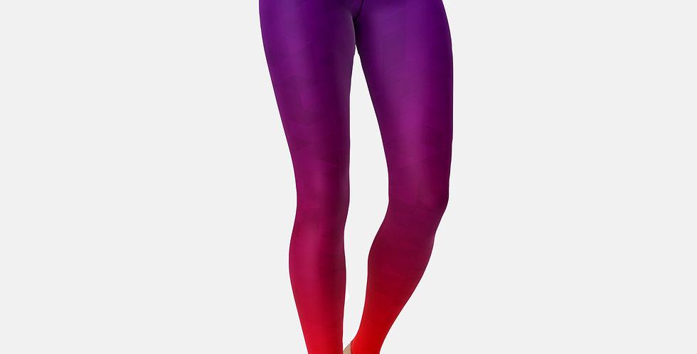 Purple & Red Leggings
