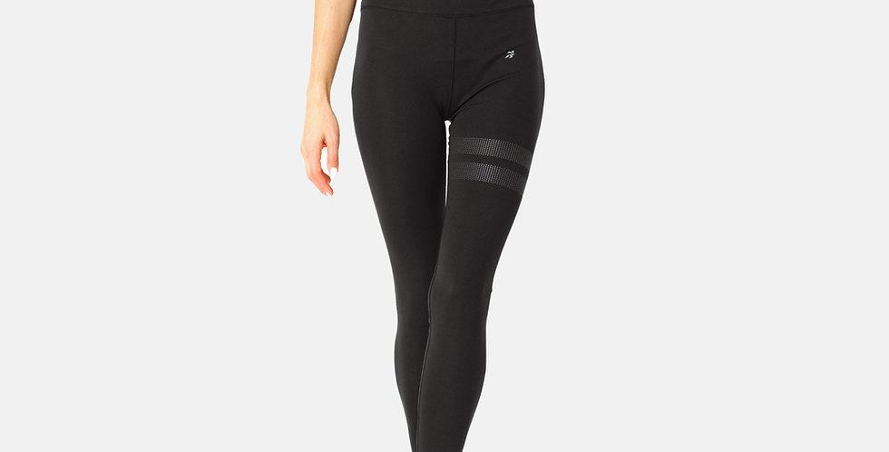 Black Striped Thigh Leggings